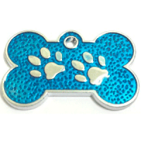 Footprints ID for pets light blue 15*26 mm