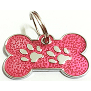 Footprints ID For Pets Pink 15*26 Mm