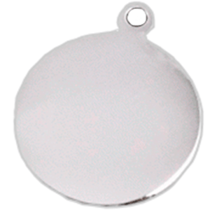 Disc Pet Id Silver In Aluminum 25*32 Mm
