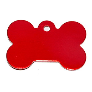 Stone Shape Dog Tag Pendant Red 21*31*1 Mm