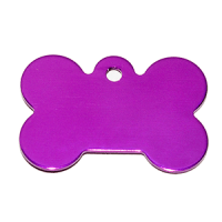 Stone Shape Dog Tag Pendant purple color 21*31*1 mm