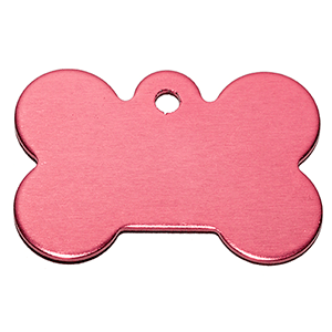 Stone Shape Dog Tag Pendant Pink 21*31*1 Mm