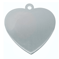 Heart ID in 316 stainles steel 18.5*20mm