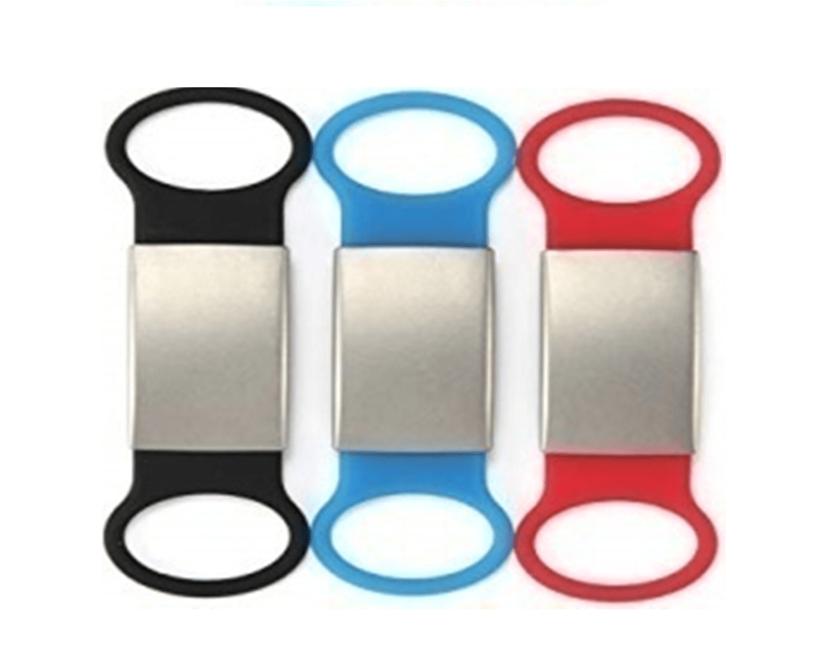 Alert Plate For Use On Lace-up Shoes, Sneakers, Bracelet, Watch, Others – Waterproof With Hypoallergenic Silicone Black, Blue, Red 15 * 65 Mm