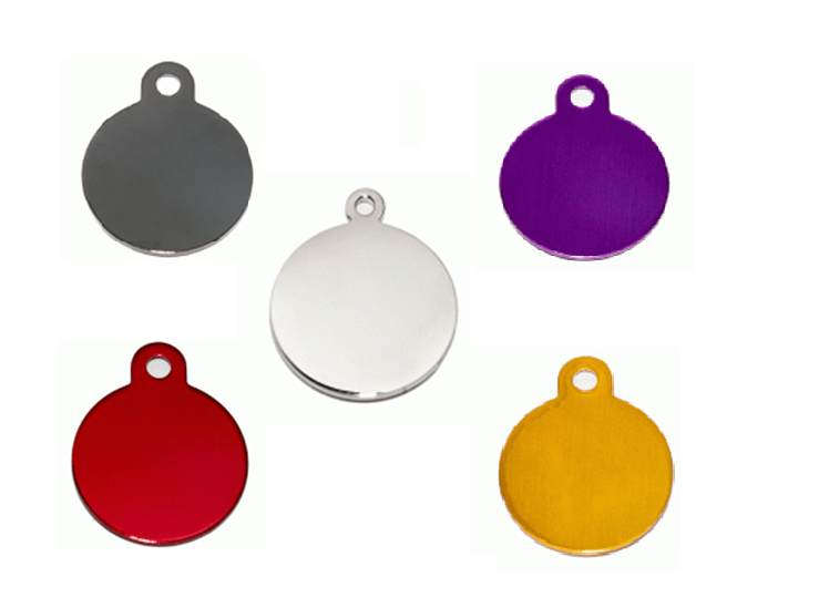 Circular ID In Silver Aluminum And Other Colors 25 * 32 Mm