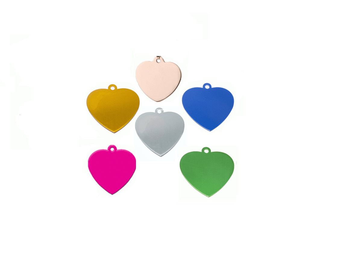 Id Heart Stainless Steel 316 Silver And Other Colors 18.5 * 20mm